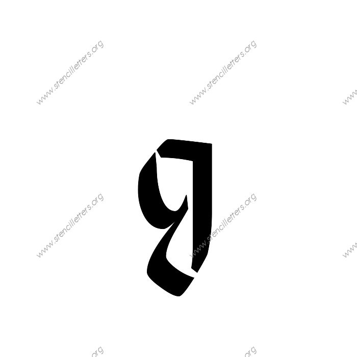 Gothic Calligraphy Uppercase Lowercase Letter Stencils A