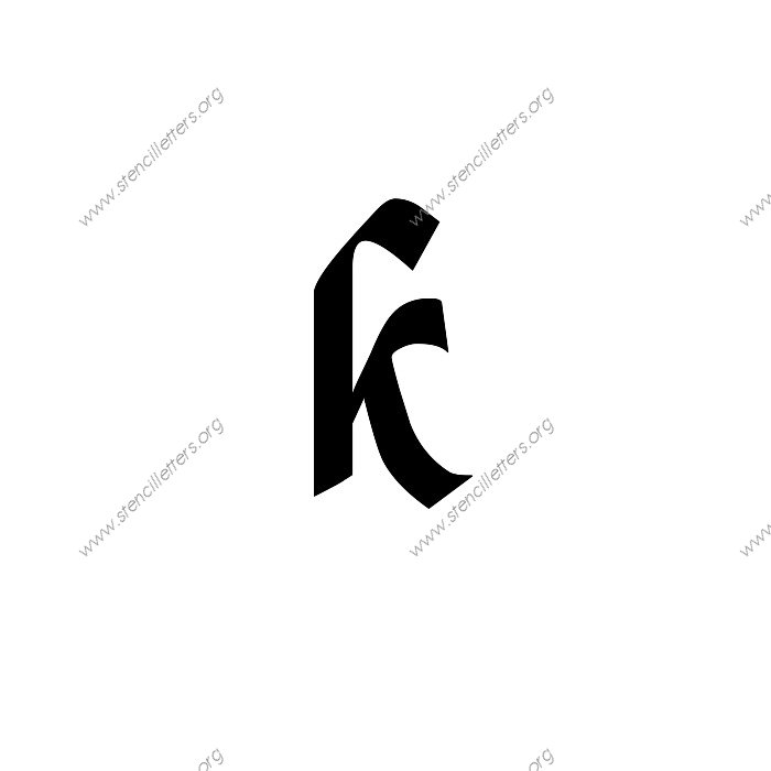 Gothic Calligraphy Uppercase Lowercase Letter Stencils A Z