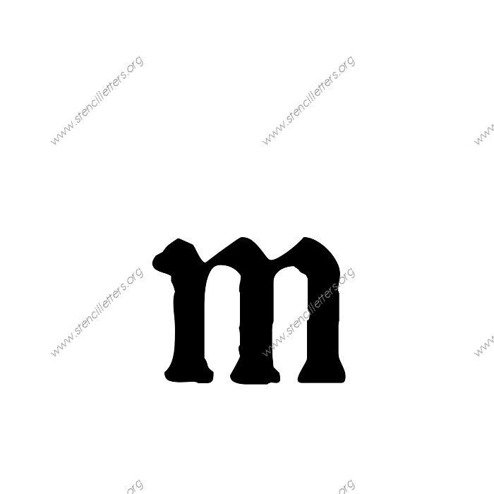 1 12inch Stencils 167 Calligraphy Lowercase Stencil Letter