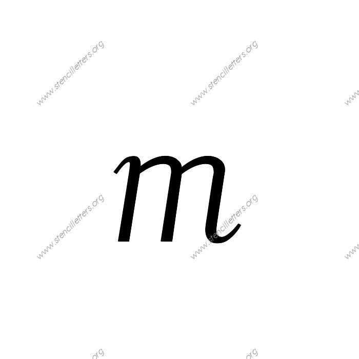 Italic Penmanship Calligraphy Uppercase Lowercase Letter