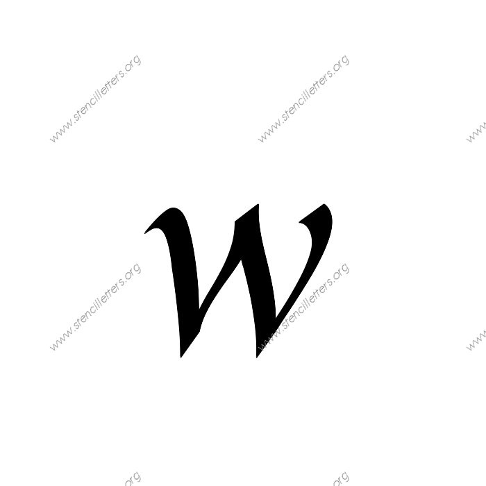 Longhand calligraphy uppercase lowercase letter stencils