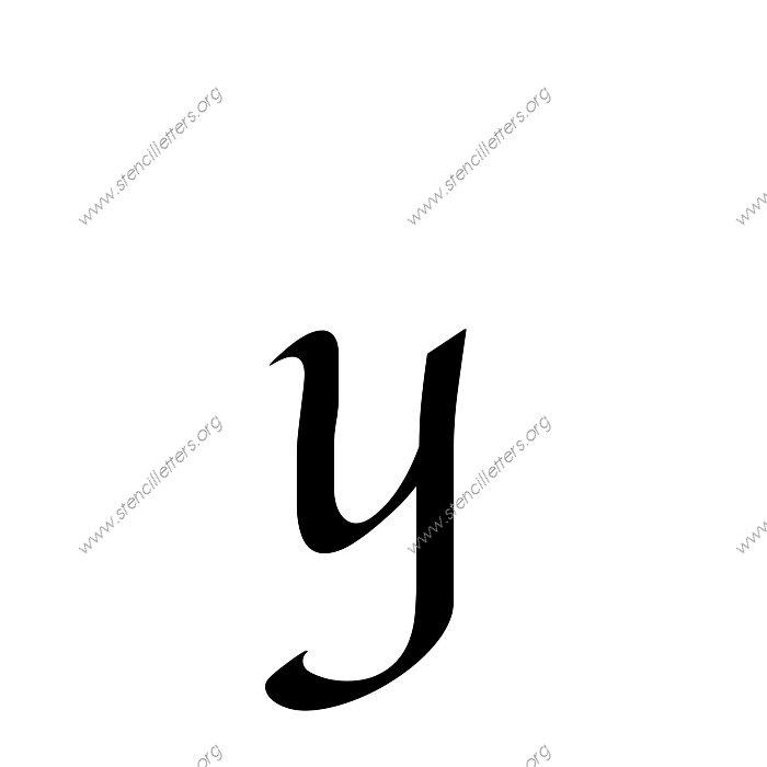 1 12inch Stencils 169 Calligraphy Lowercase Stencil Letter