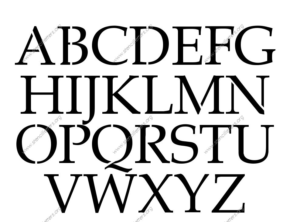 French Headline A to Z alphabet stencils