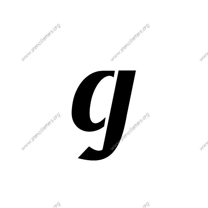 1 12inch Stencils 170 Calligraphy Lowercase Stencil Letter