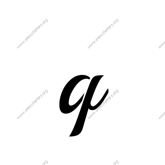 Vintage calligraphy uppercase lowercase letter stencils