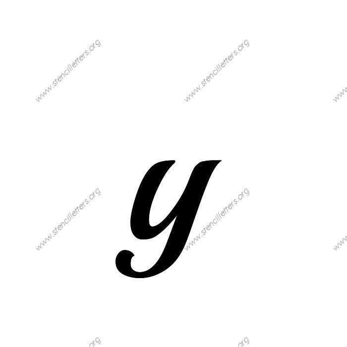 1 12inch Stencils 172 Calligraphy Lowercase Stencil Letter