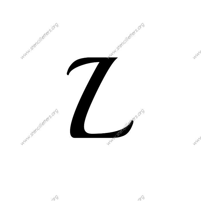 1 12inch Stencils 172 Calligraphy Uppercase Stencil Letter