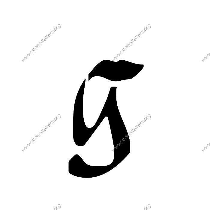 1 12inch Stencils 173 Calligraphy Lowercase Stencil Letter