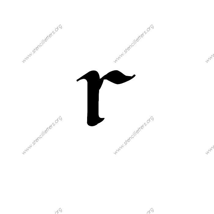 1 12inch Stencils 174 Calligraphy Lowercase Stencil Letter