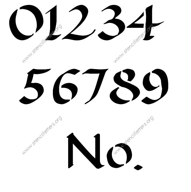 Decorative Writing Calligraphy Number Stencil
