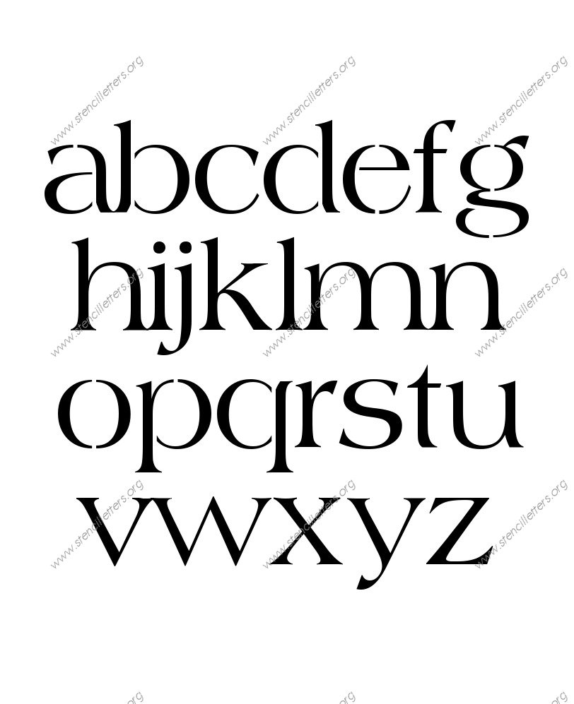 1960s Americana A to Z lowercase letter stencils