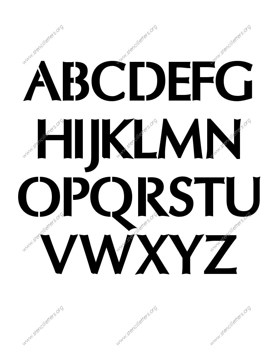 Headline Sans A to Z alphabet stencils