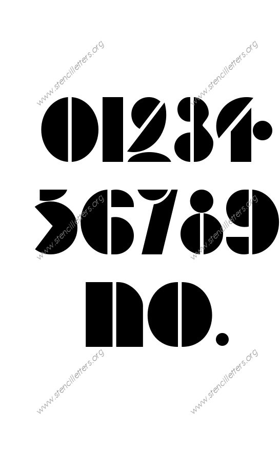 Art Deco Bold 0 to 9 number stencils