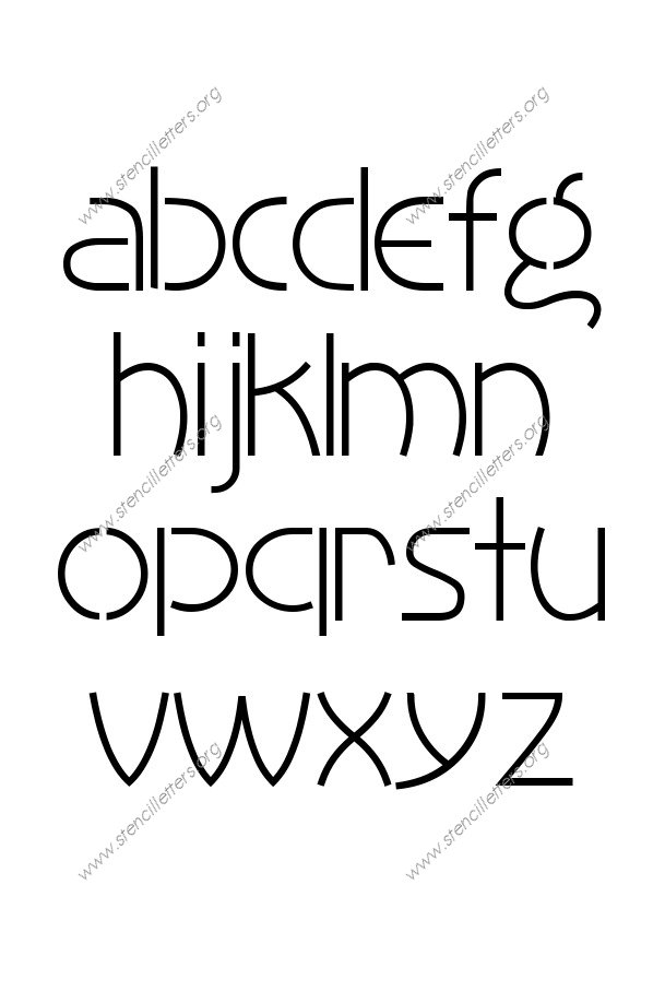 1930s Art Style A to Z lowercase letter stencils