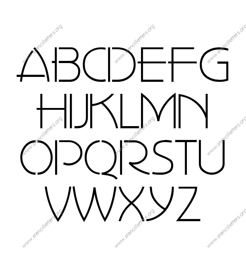 1930s Art Style A to Z uppercase letter stencils
