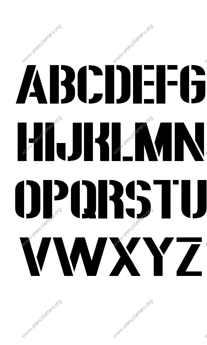 rough bold a to z uppercase letter stencils easy