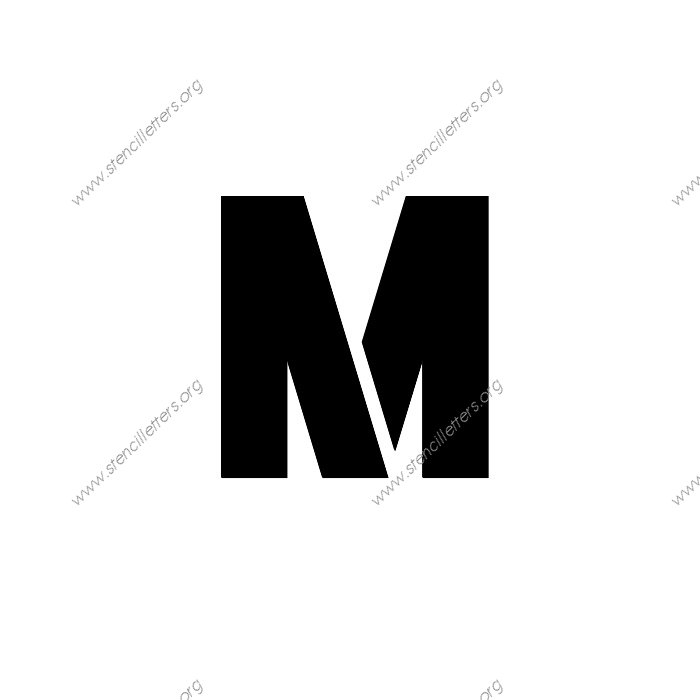 rough bold uppercase  u0026 lowercase letter stencils a 4