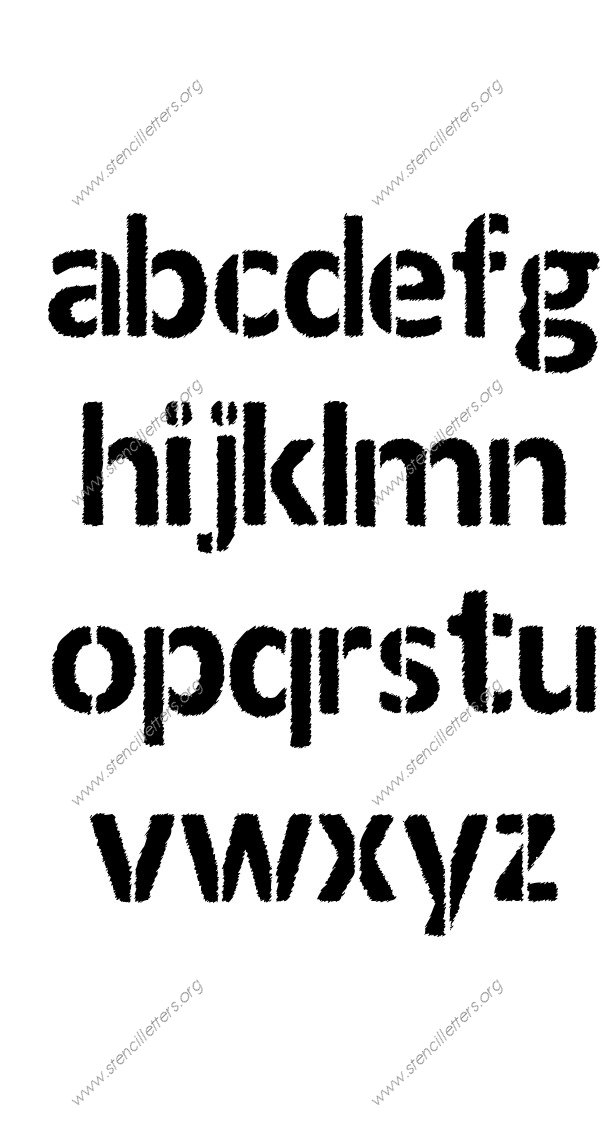 Woodcut Novelty A to Z lowercase letter stencils