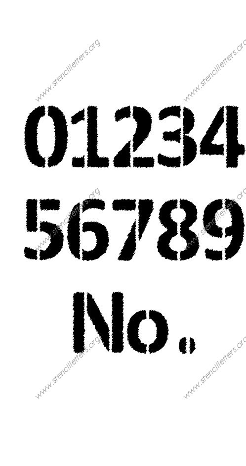 Woodcut Novelty Number Stencil