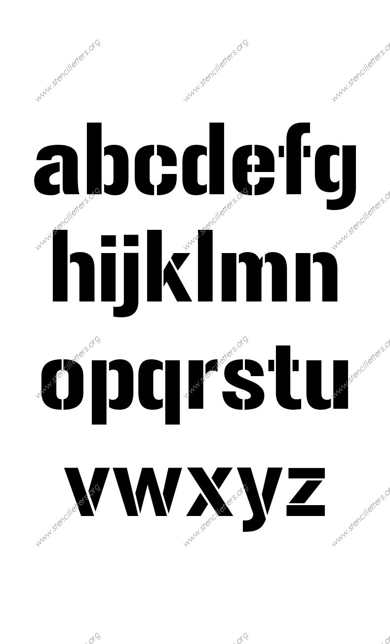 1970s Novelty A to Z lowercase letter stencils