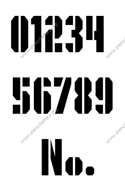 Octagonal Army Number Stencil