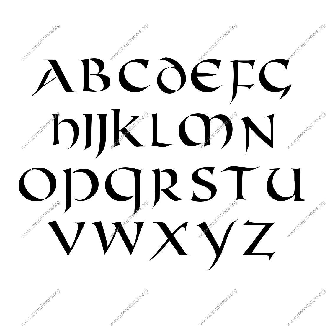 Celtic Alphabet Letter Stencils
