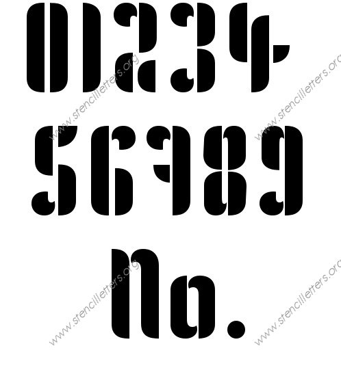 Gothic Headline Decorative 0 to 9 number stencils