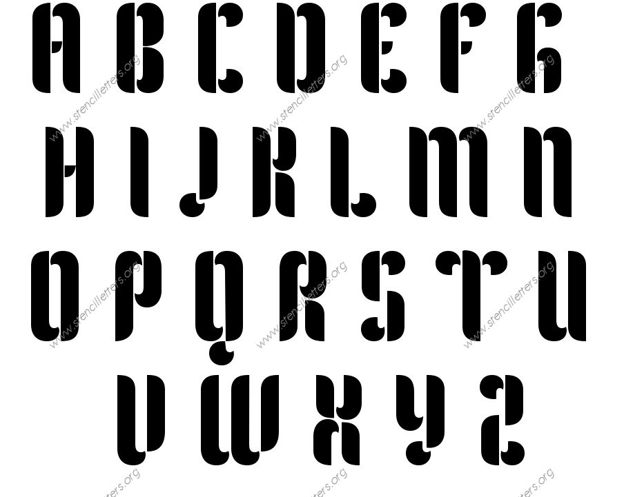 Gothic Headline Decorative A to Z uppercase letter stencils
