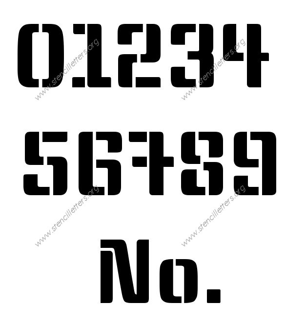 Stylish Modern Number Stencil