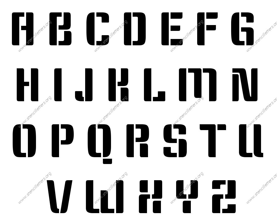 Stylish Modern A to Z uppercase letter stencils