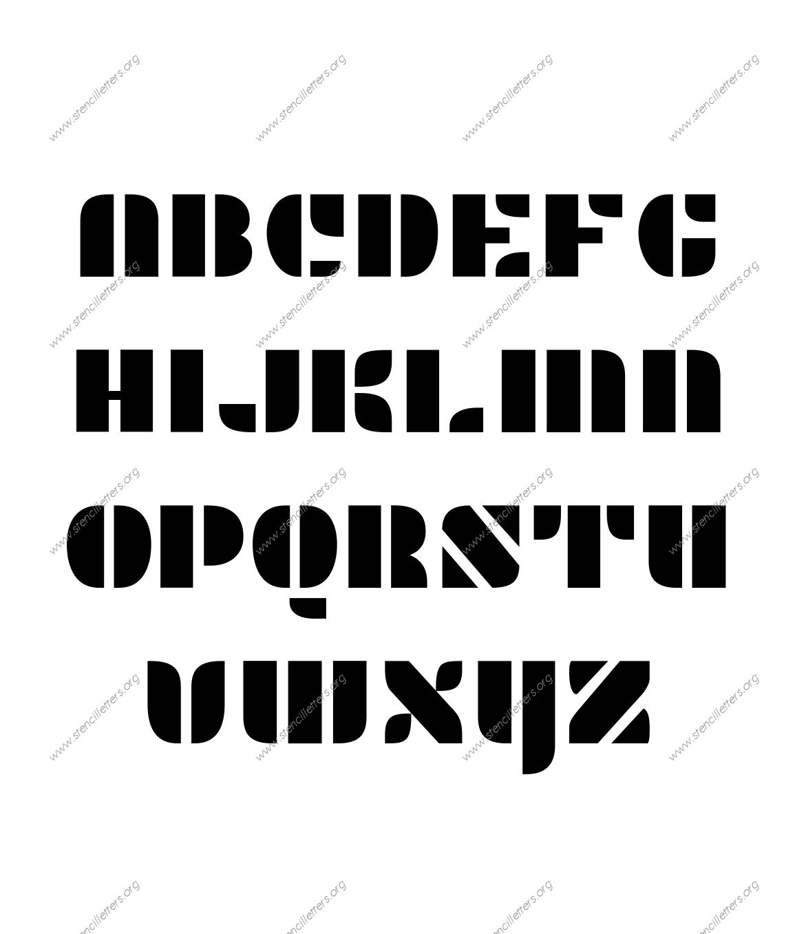 Display Decorative A to Z uppercase letter stencils