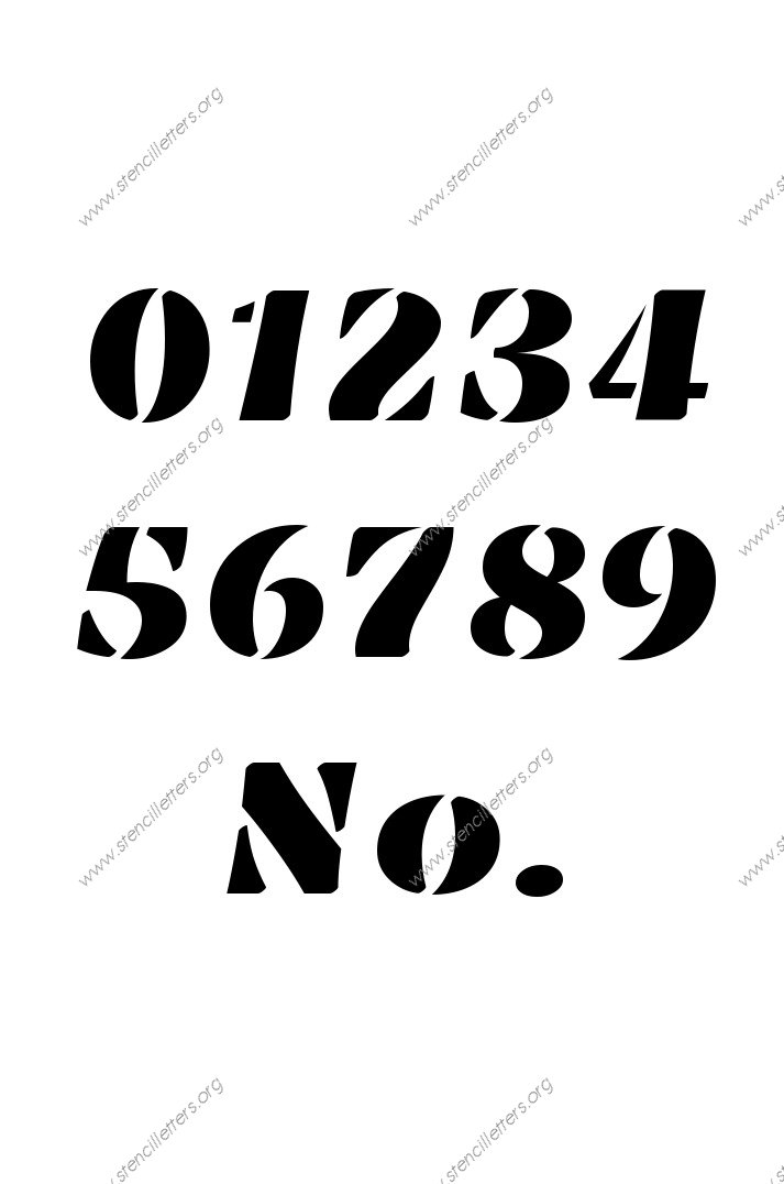 Victorian Bold 0 to 9 number stencils