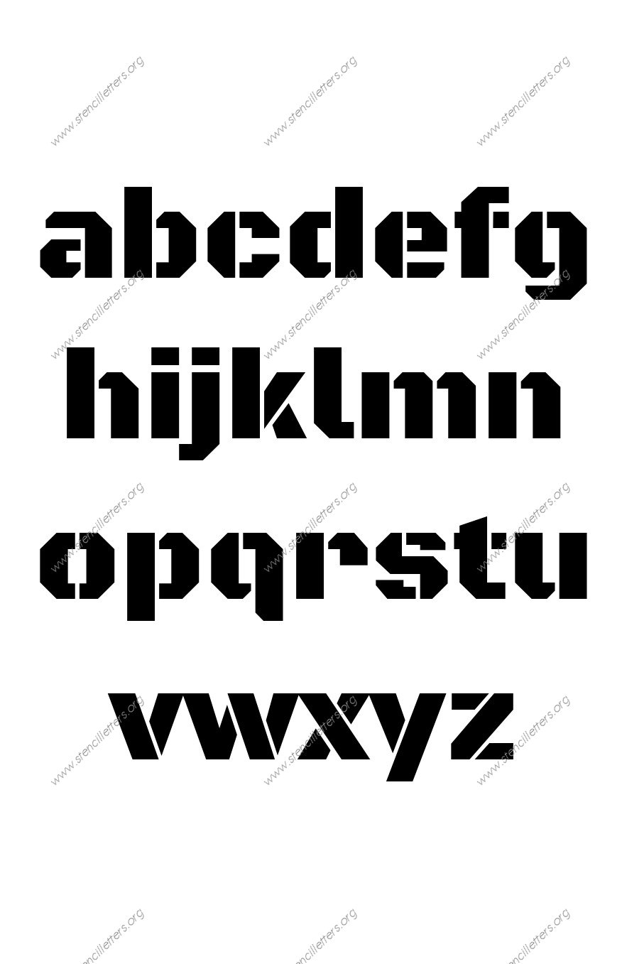 Heavy Poster Bold A to Z lowercase letter stencils