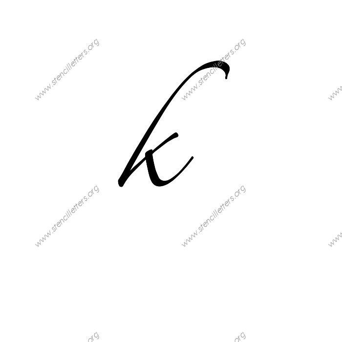 script cursive uppercase amp lowercase letter stencils az 1