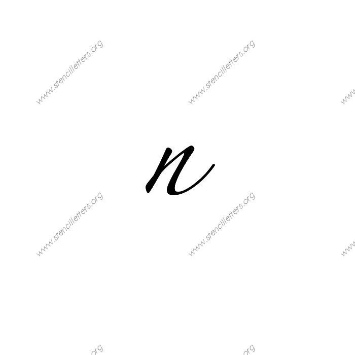 1 12inch stencils271 cursivelowercasestencil letter
