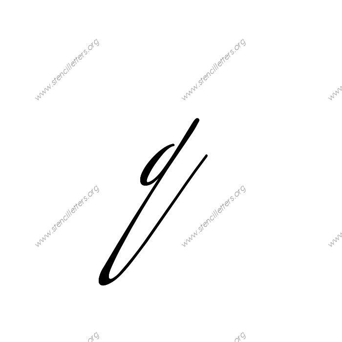 Script Cursive Uppercase & Lowercase Letter Stencils A-Z 1 ...