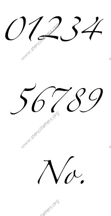 Script Cursive Uppercase Lowercase Letter Stencils A Z 1
