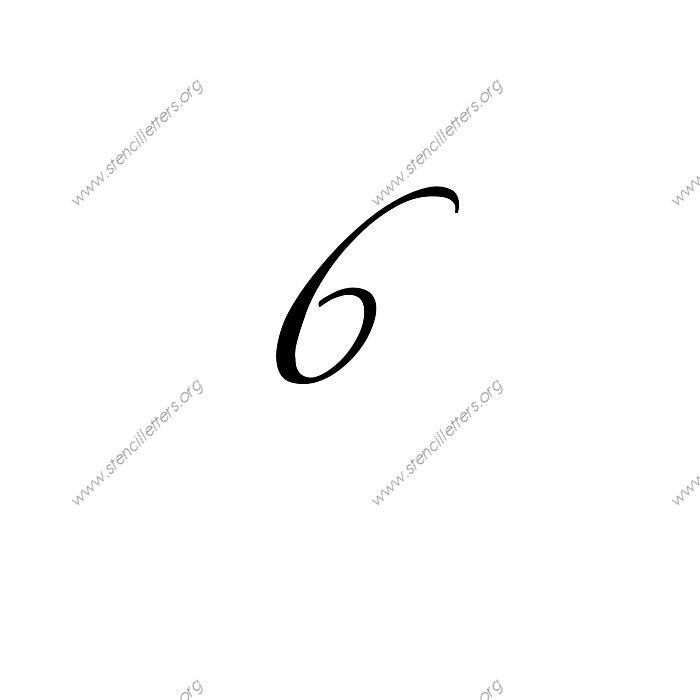 Script Cursive Number Stencils 0 To 9 Stencil Letters Org