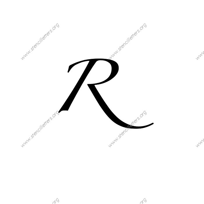 pin cursive letter r stencil black letter gothic alphabet r on