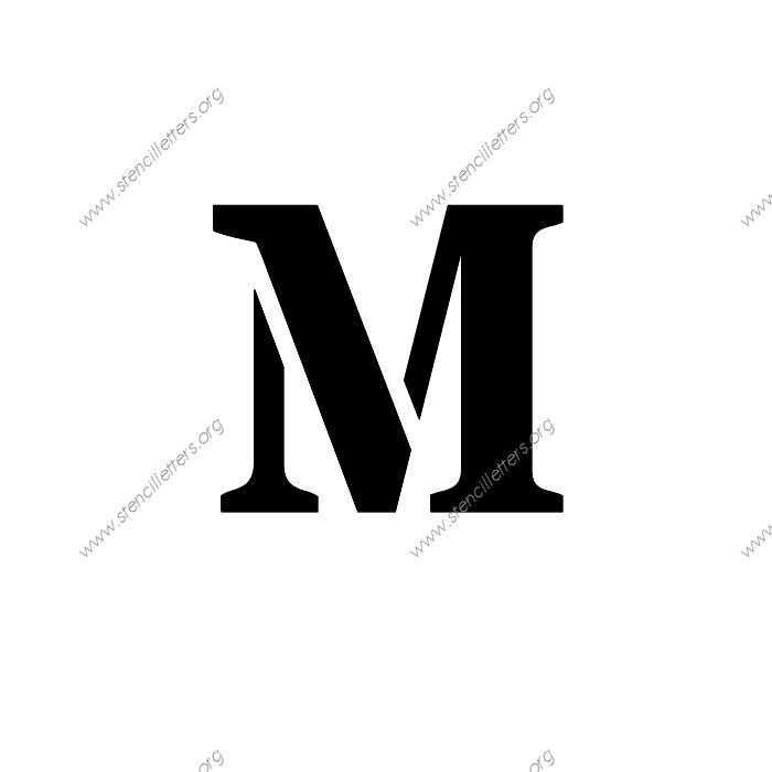 stencil-letter-m Template Alphabet Letter Sample on for tracing, for kids, free printable large, medium printable,
