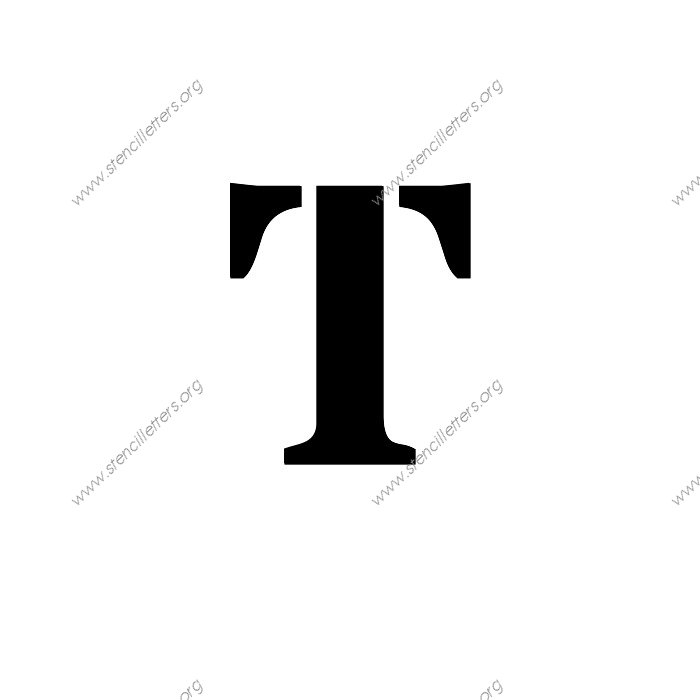 serif bold uppercase  u0026 lowercase letter stencils a 4