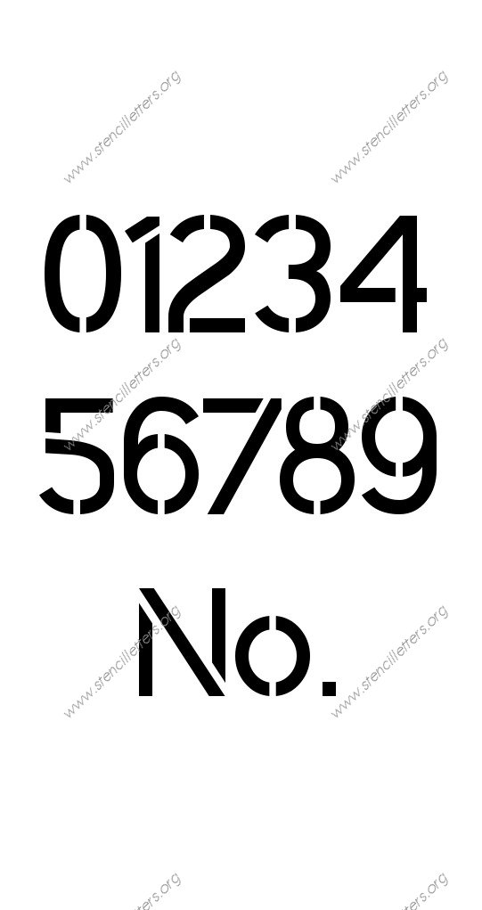 Clean Modern 0 to 9 number stencils
