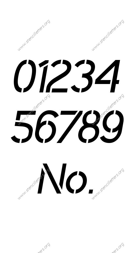 Plain Modern 0 to 9 number stencils