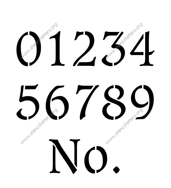 Basic Bold Elegant 0 to 9 number stencils