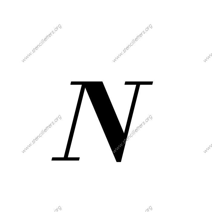 letter a stencil