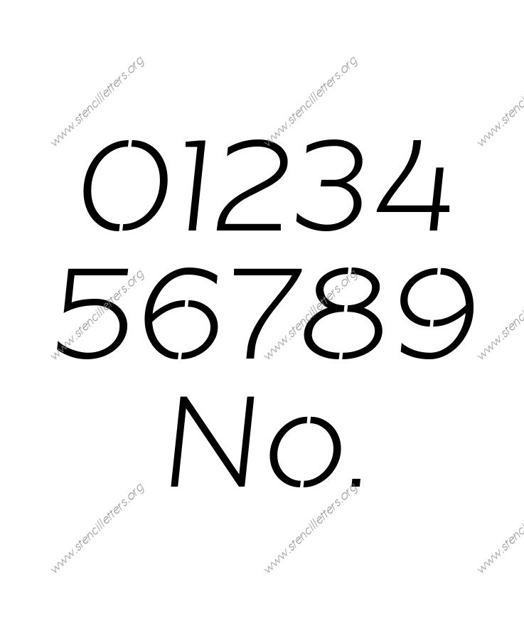 Banner Italic Number Stencil