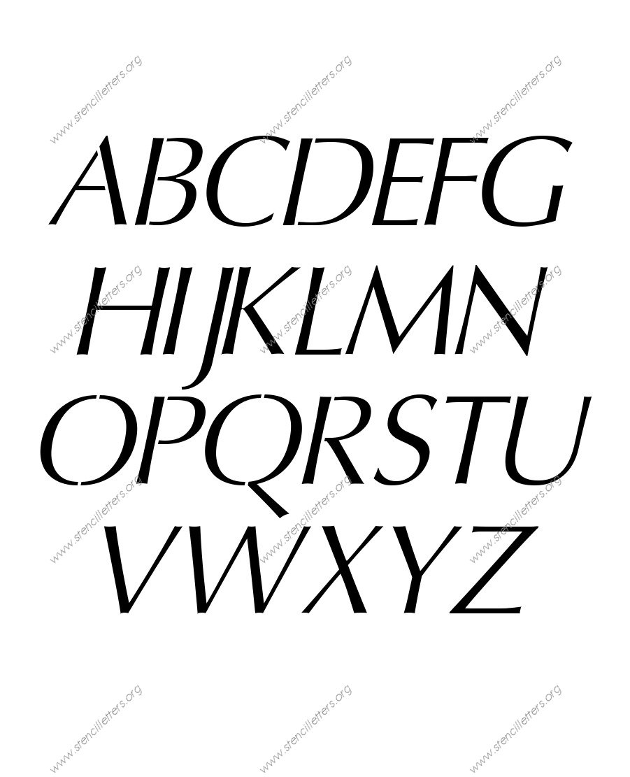 Headline Sans Italic custom made stencils