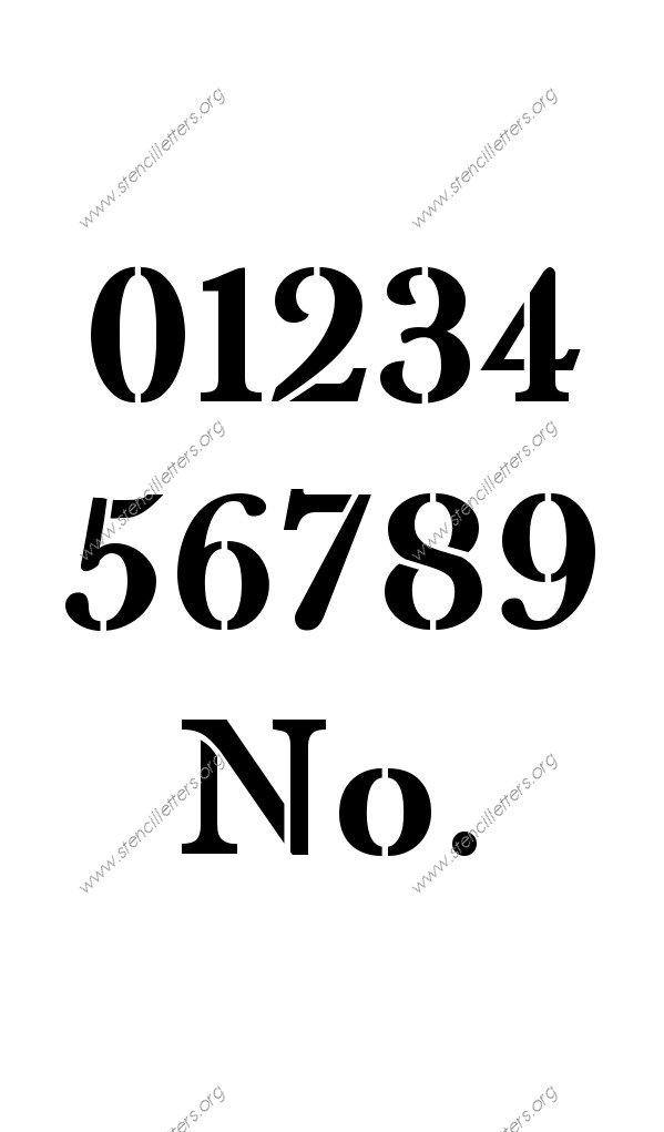 High Contrast Elegant 0 to 9 number stencils
