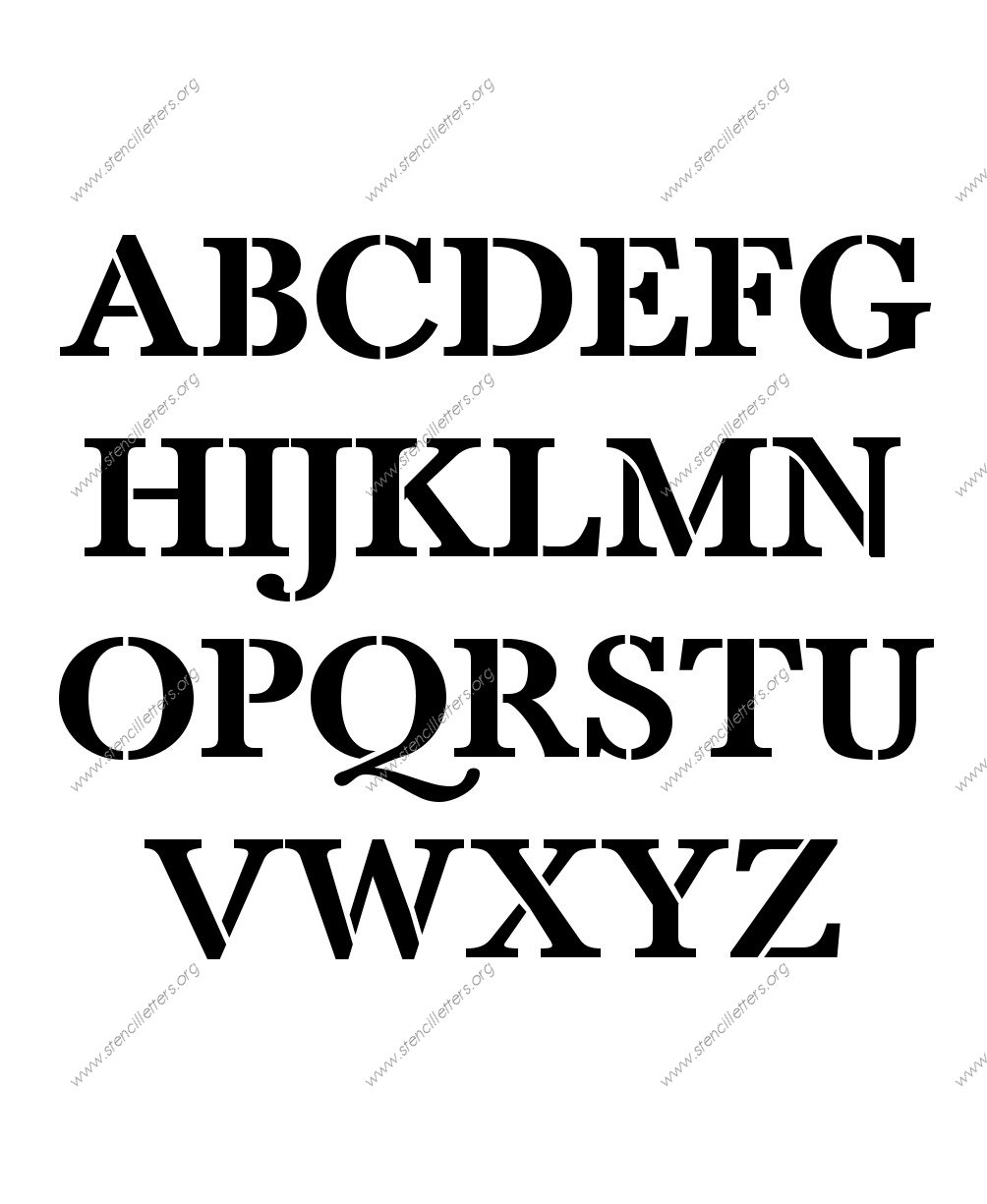 High Contrast Elegant A to Z uppercase letter stencils
