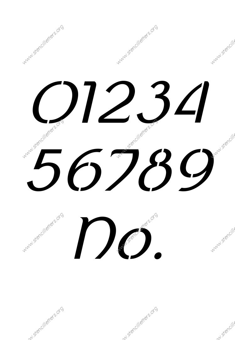 Ancient Celtic Italic 0 to 9 number stencils